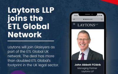ETL GLOBAL NEWS FROM THE UK – Growth in Legal Sector